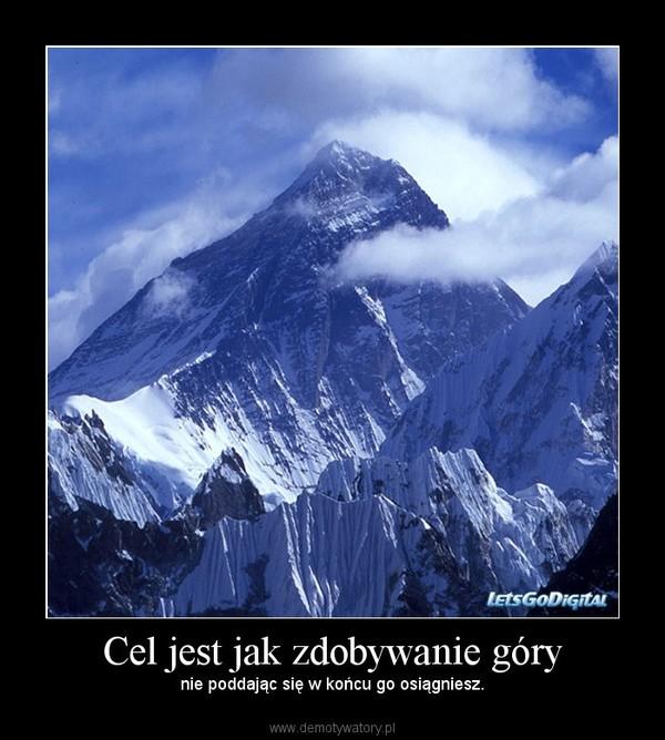 Cel jest jak zdobywanie góry – nie poddając się w końcu go osiągniesz.
