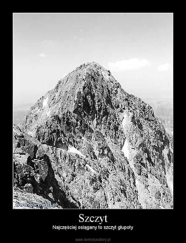 Szczyt – Najczęściej osiągany to szczyt głupoty