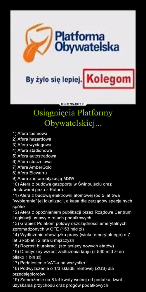 Osiągnięcia Platformy Obywatelskiej...