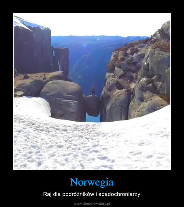 Norwegia – Raj dla podróżników i spadochroniarzy