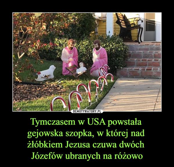 Tymczasem w USA powstała gejowska szopka, w której nad żłóbkiem Jezusa czuwa dwóch Józefów ubranych na różowo –