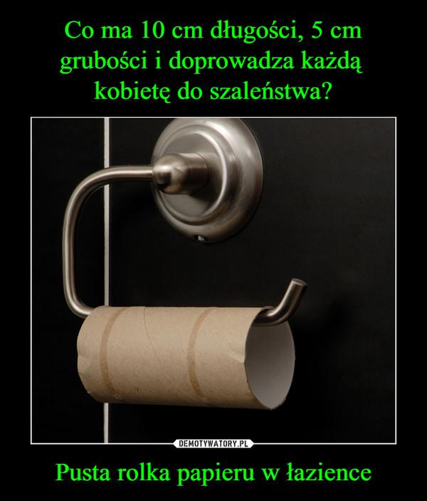 Pusta rolka papieru w łazience –