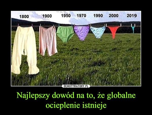 Najlepszy dowód na to, że globalne ocieplenie istnieje –