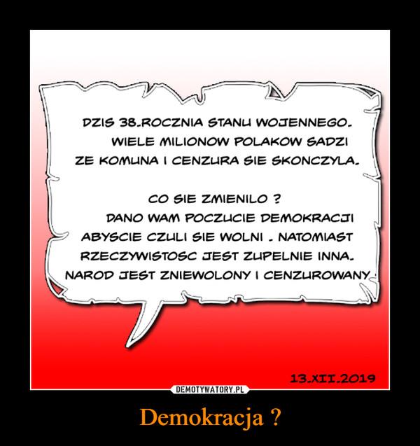Demokracja ? –