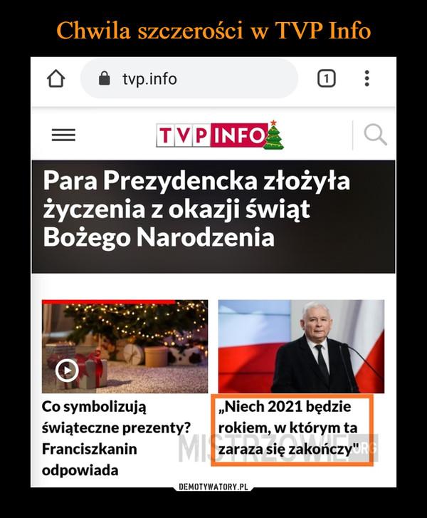 Chwila szczerości w TVP Info