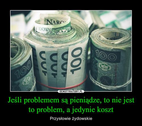 Jeśli problemem są pieniądze, to nie jest to problem, a jedynie koszt