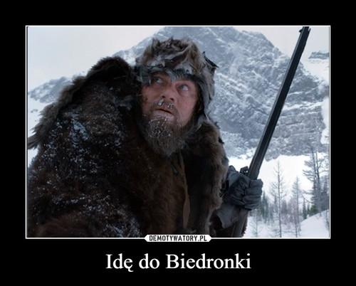 Idę do Biedronki