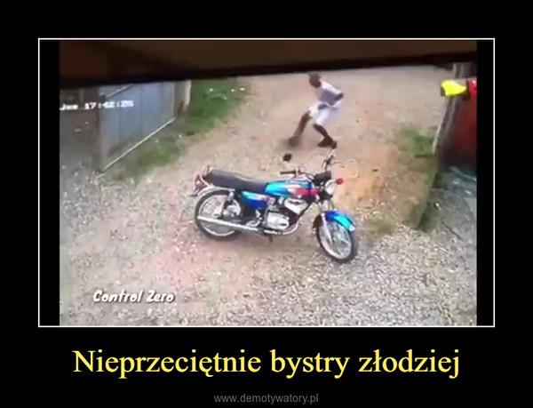 Nieprzeciętnie bystry złodziej –