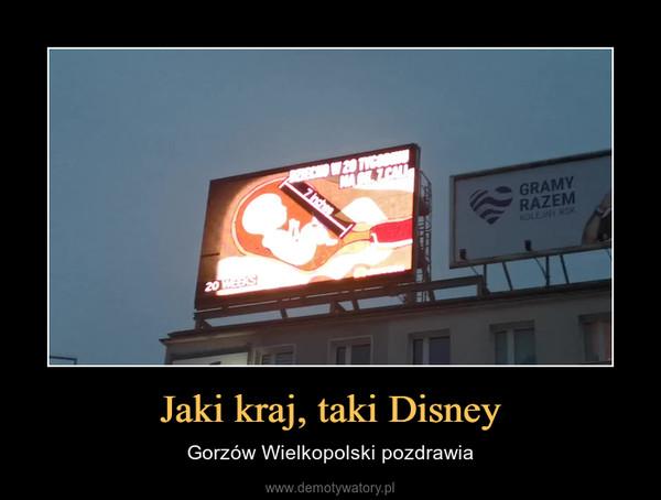 Jaki kraj, taki Disney – Gorzów Wielkopolski pozdrawia