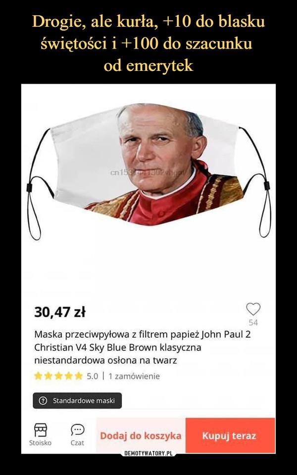 –  30,47 złMaska przeciwpyłowa z filtrem papież JohnChristian V4 Sky Blue Brown klasycznaniestandardowa osłona na twarz
