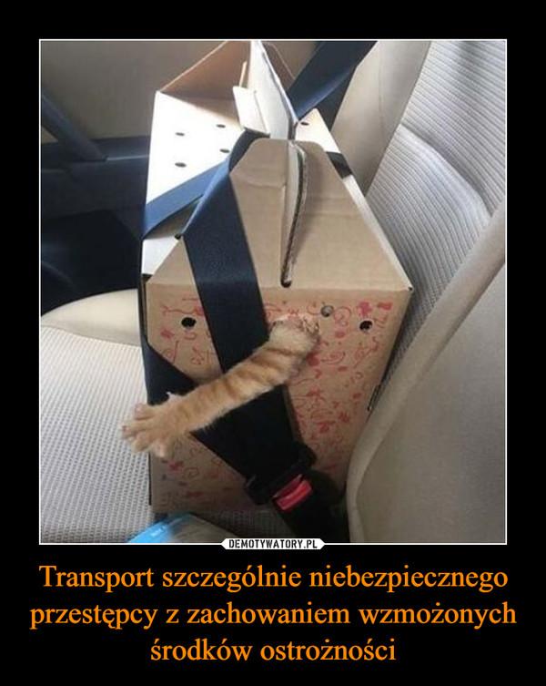 Transport szczególnie niebezpiecznego przestępcy z zachowaniem wzmożonych środków ostrożności –