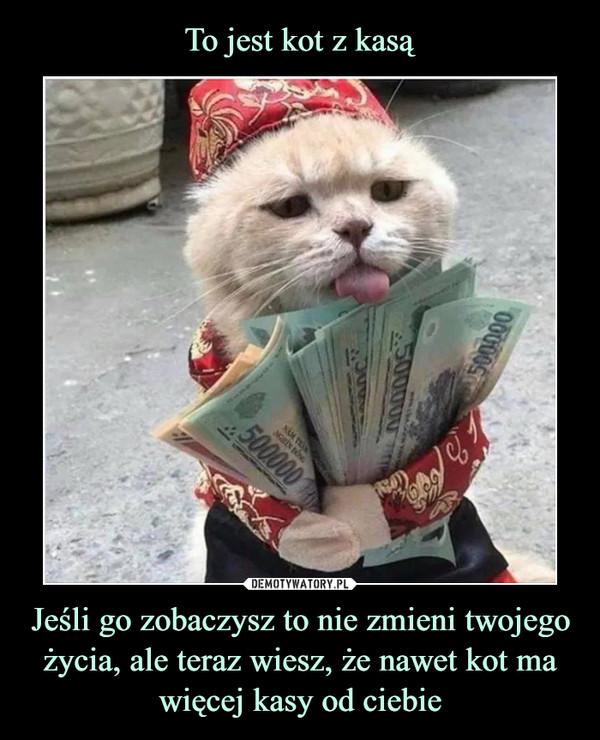 Jeśli go zobaczysz to nie zmieni twojego życia, ale teraz wiesz, że nawet kot ma więcej kasy od ciebie –