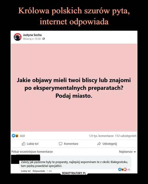 Królowa polskich szurów pyta, internet odpowiada