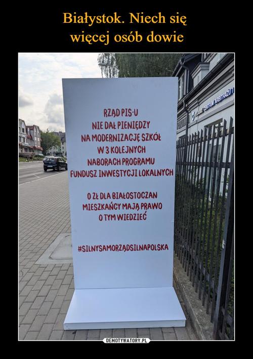 Białystok. Niech się  więcej osób dowie