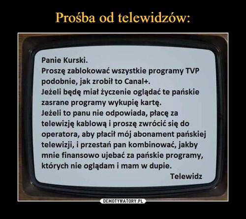 Prośba od telewidzów: