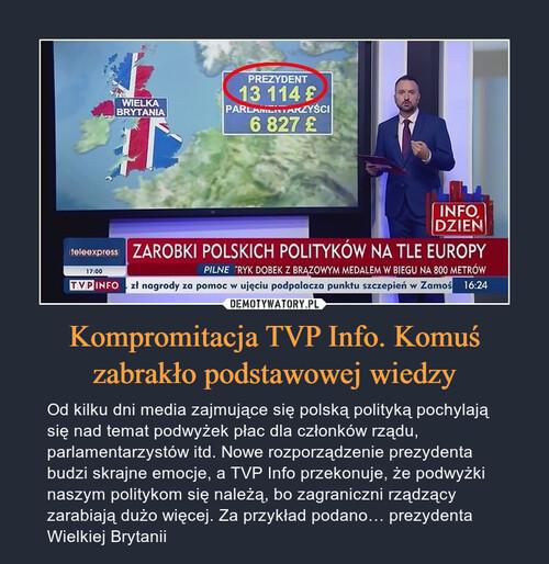 Kompromitacja TVP Info. Komuś zabrakło podstawowej wiedzy