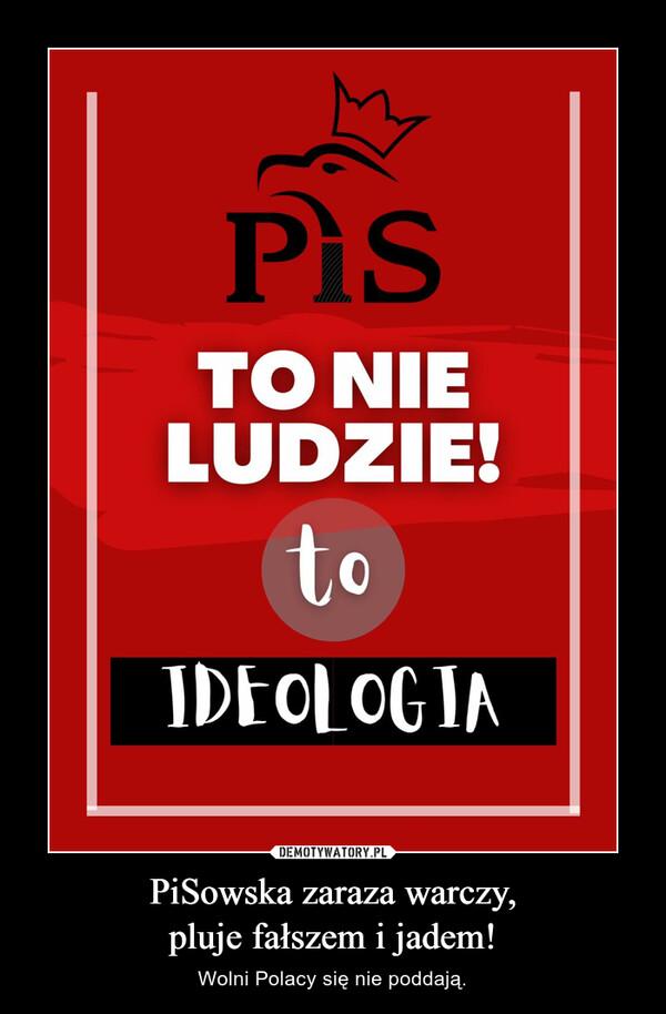 PiSowska zaraza warczy,pluje fałszem i jadem! – Wolni Polacy się nie poddają.