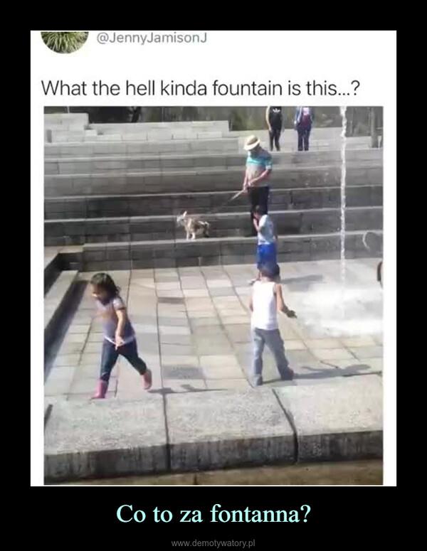 Co to za fontanna? –
