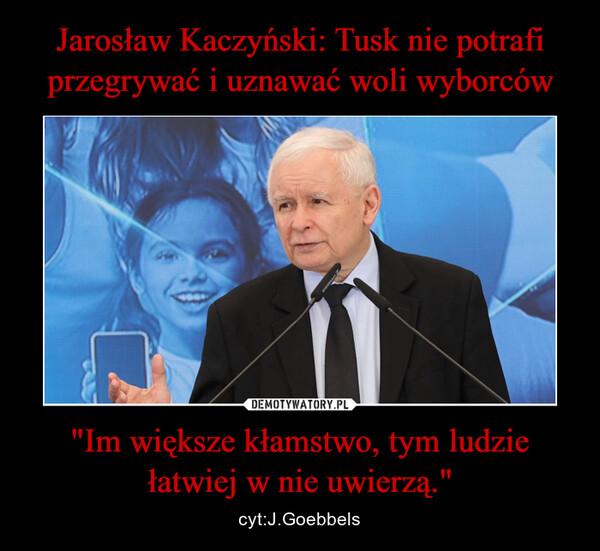 """""""Im większe kłamstwo, tym ludzie łatwiej w nie uwierzą."""" – cyt:J.Goebbels"""